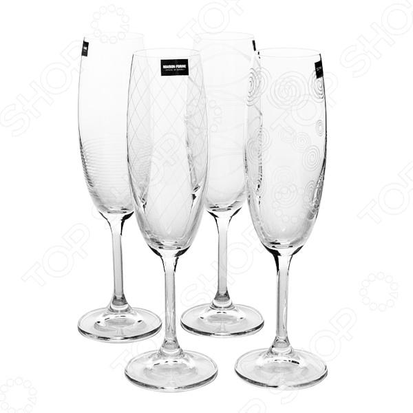 Набор бокалов Banquet Crystal KE02B4G006210D-4GB набор бокалов crystalex ангела оптика отводка зол 6шт 400мл бренди стекло