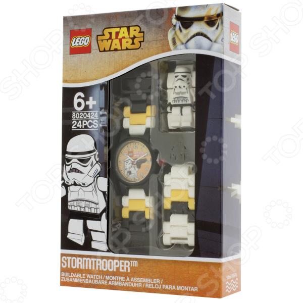 Часы наручные детские LEGO с минифигурой Stormtrooper на ремешке часы наручные lego часы наручные аналоговые lego star wars с минифигурой darth vader на ремешке