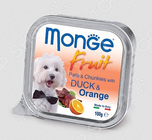 Fruit Pate & Chunkies wit Duck & Orange Корм консервированный для собак Monge Fruit Pate & Chunkies wit Duck & Orange