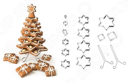 Набор форм для выпечки пряников «Рождественская елка» Tescoma Delicia