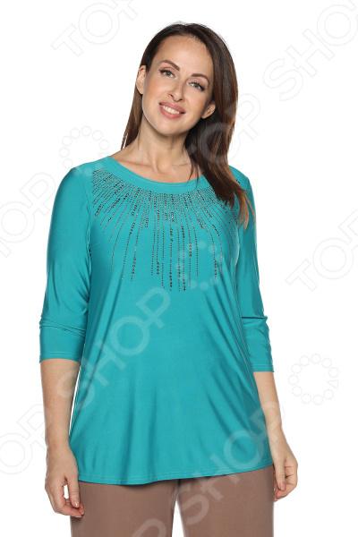 Блуза Blagof «Драгоценная». Цвет: бирюзовый блуза blagof блуза мерси цвет персиковый