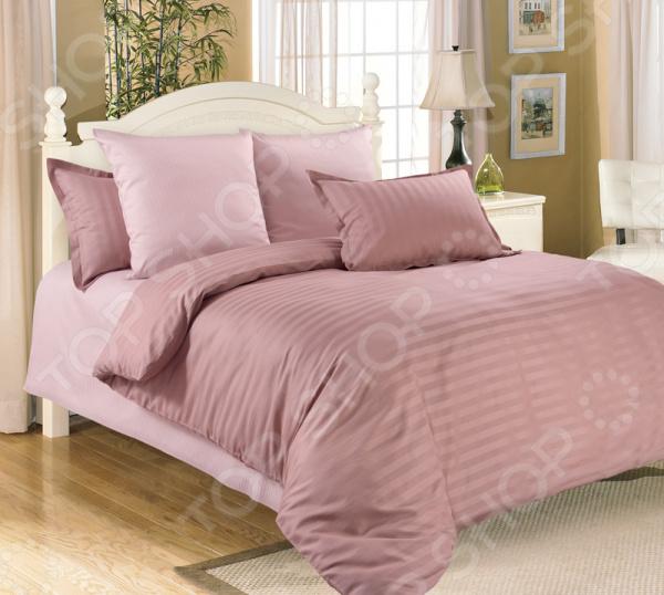 Комплект постельного белья Folke Stripes «Чайная роза» комплект семейного белья василиса нежная роза 4172 1 70x70 c рб