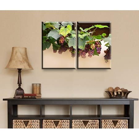 Купить Картина 2-модульная ТамиТекс «Виноград»