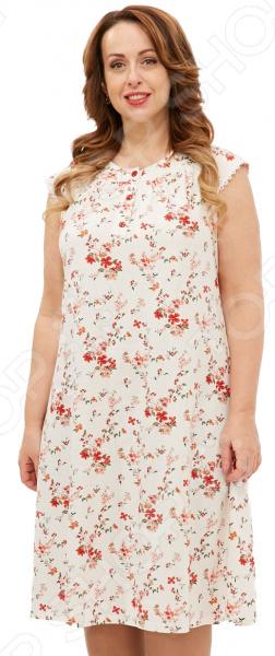 Сорочка Алтекс «Цветущая яблоня». Цвет: белый, розовый блуза алтекс цвет белый черный