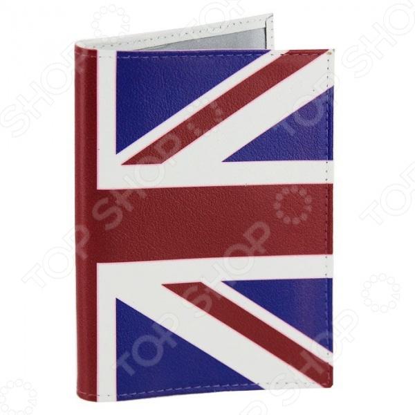 Обложка для паспорта кожаная Mitya Veselkov «Британский флаг» часы наручные mitya veselkov британский флаг mvblack 22
