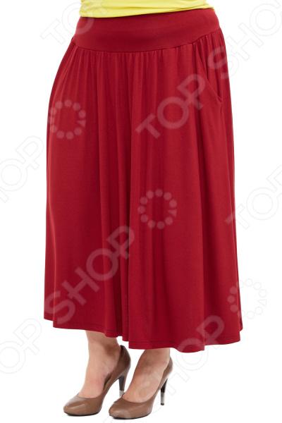 Юбка Матекс «Изабелина». Цвет: бордовый  туника матекс дыхание нежности цвет бордовый