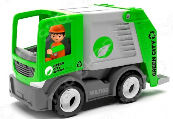 Машинка игровая EFKO «Мусоровоз с водителем»