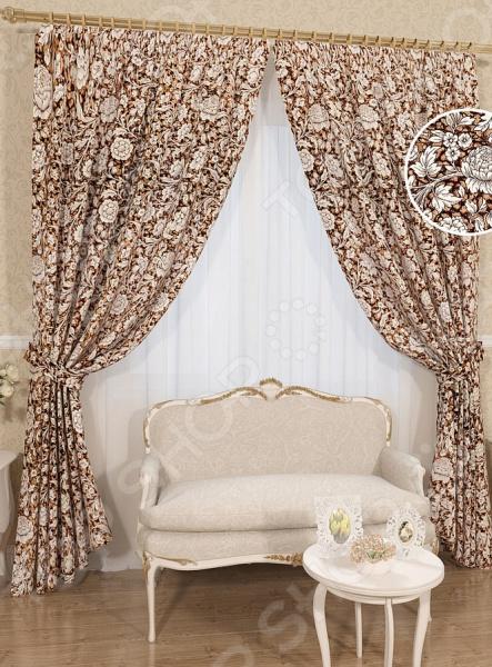 Комплект штор Сирень «Чаровница» комплект штор с покрывалом для спальни в москве