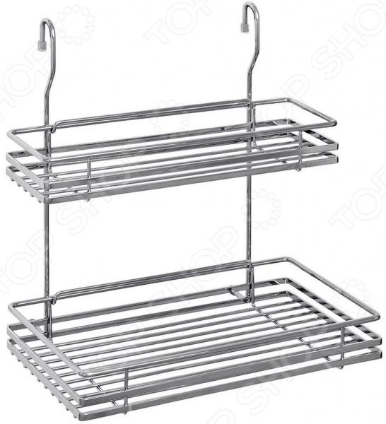 Полка для кухни двухуровневая разноразмерная Nadoba Bozena 701119 все для кухни