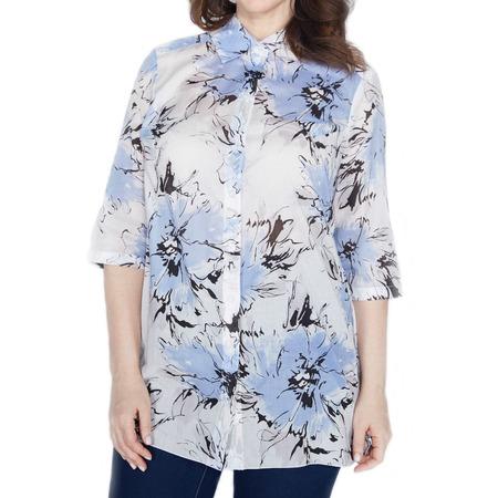Купить Блуза Prima Linea «Голубые Гаваи». Цвет: белый, голубой