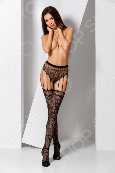 Колготки эротические Passion Erotic Line S003-BL женская мода сексуальное масло блестящие глянцевые чулки женское открытое колготки колготки bodystockings lingerie для lady