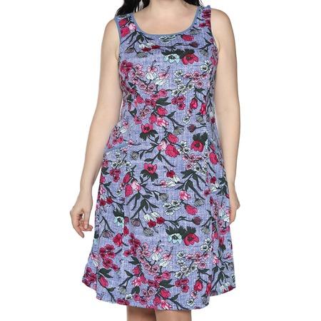 Купить Платье Алтекс «Изобилие цветов». Цвет: светло-джинсовый