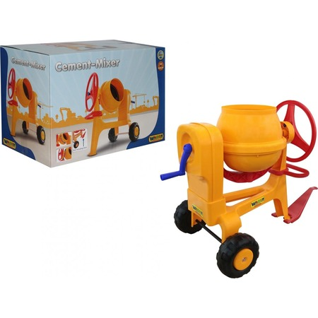 Купить Машинка игрушечная Wader «Бетономешалка №1» с прицепным устройством
