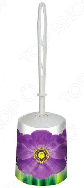 Ершик для туалета и подставка круглая Violet 1401/89 «Фиалка»