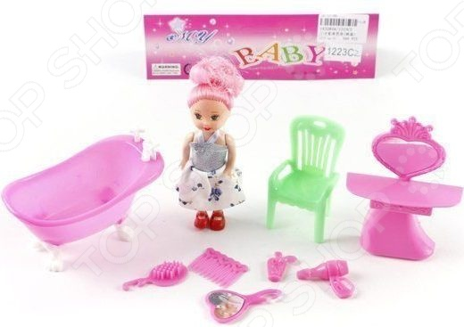 Набор мебели для куклы Shantou Gepai «Ванная комната»