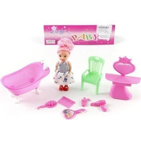 Купить Набор мебели для куклы Shantou Gepai «Ванная комната»