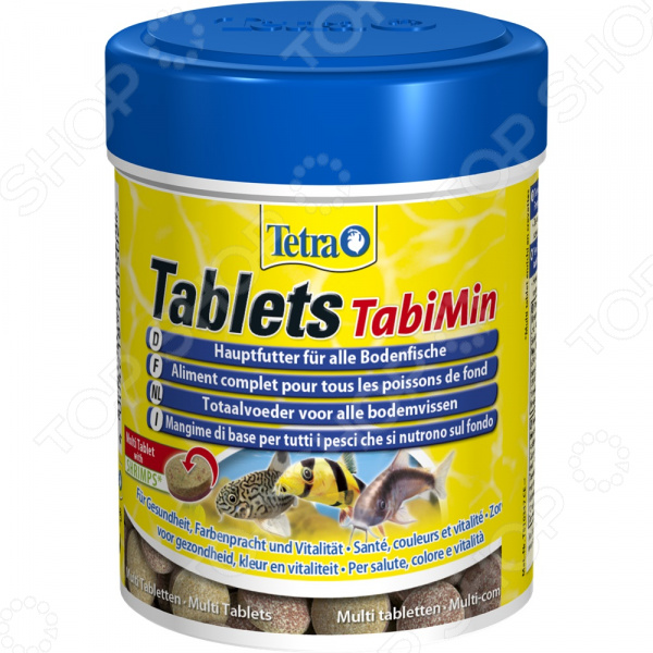 Корм для всех видов донных рыб Tetra Tablets TabiMin корм флатазор купить в ульяновске