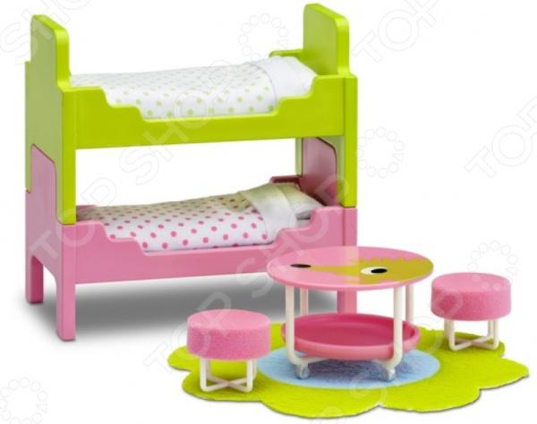 Мебель для куклы Lundby «Смоланд. Детская с 2 кроватями» кукольная мебель lundby смоланд обеденный уголок lb 60209600
