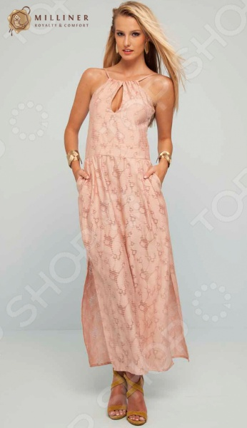 Сарафан Milliner 16625 красивое и элегантное платье-сарафан в пол, которое относится в категории must have в модном женском гардеробе. Оно придаст неповторимое очарование и женственность своей обладательнице. Стильная женственная модель может стать основой для самых различных образов. Достаточно правильно подобрать аксессуары и обувь, и вы получите оригинальный вечерний образ, наряд кэжуал, который будет отличаться своей практичностью, или романтичный образ красавицы. Сарафан выполнен из приятной мягкой ткани, которая будет красиво ниспадать по фигуре, лишь едва обозначив бедра. Оригинальный дизайн верха с вырезами спереди и на спинке привнесет некоторую пикантность в образ, сделав его ещё более сообразительным и желанным. Приталенный силуэт с изящным пояском лишь подчеркнет стройность фигуры, правильно расставив акценты. Сарафан станет идеальным решением для смелых и уверенных девушек. Побалуйте себя великолепным образом с сарафаном Milliner 16625!