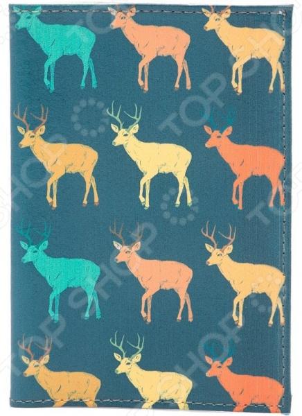Обложка для паспорта кожаная Mitya Veselkov «Олени на темном» часы just cavalli just cavalli ju662dwbjvf0