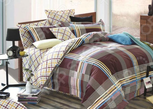 Комплект постельного белья La Vanille 644 комплект белья диана la vanille 2 спальный наволочки 70х70 цвет желтый голубой серый с 644 2 175 180 70