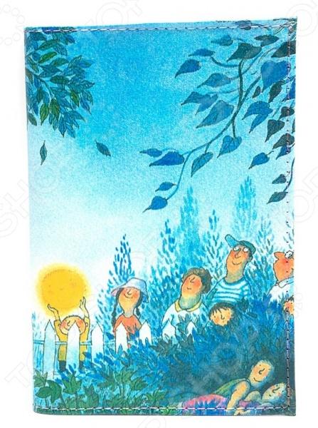 обложка для автодокументов кожаная mitya veselkov монро уорхолл Обложка для автодокументов кожаная Mitya Veselkov «Под Луной»