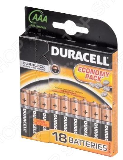 Набор батареек Duracell Basic LR03-18BL цена