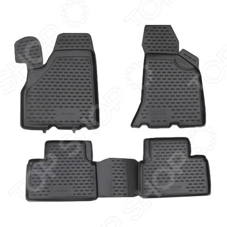Комплект ковриков в салон автомобиля Novline-Autofamily LADA Priora 2010 комплект 3d ковриков в салон автомобиля novline autofamily volkswagen touareg 2010 2015 2015
