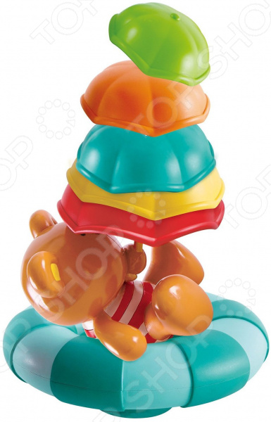 Игрушка для купания Hape «Мишка с зонтами»