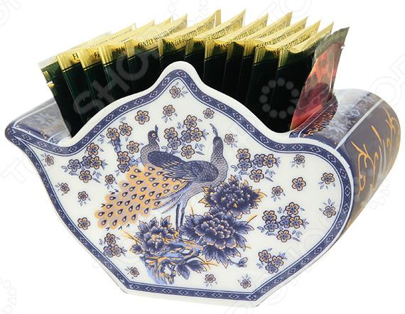 Подставка сервировочная под чайные пакетики Elan Gallery «Павлин синий» подставки под пакетики nuova r2s подставки под пакетики