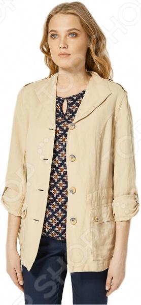 Куртка Finn Flare S16-12064. Цвет: светло-бежевый брюки finn flare s16 24008 цвет светло серый