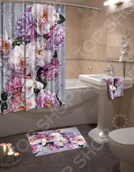 Zakazat.ru: Набор для ванной комнаты: шторка и коврик ТамиТекс «Гармония»