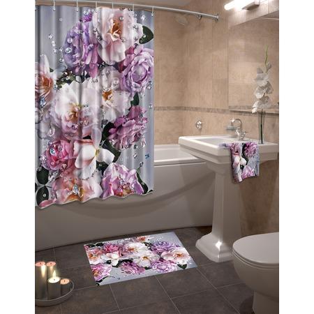 Купить Набор для ванной комнаты: шторка и коврик ТамиТекс «Гармония»