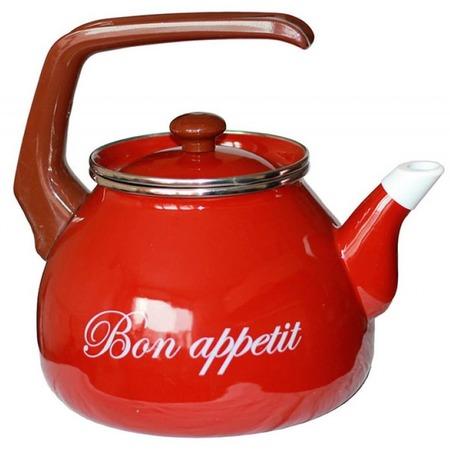 Купить Чайник эмалированный Interos 2234 «Бордо»