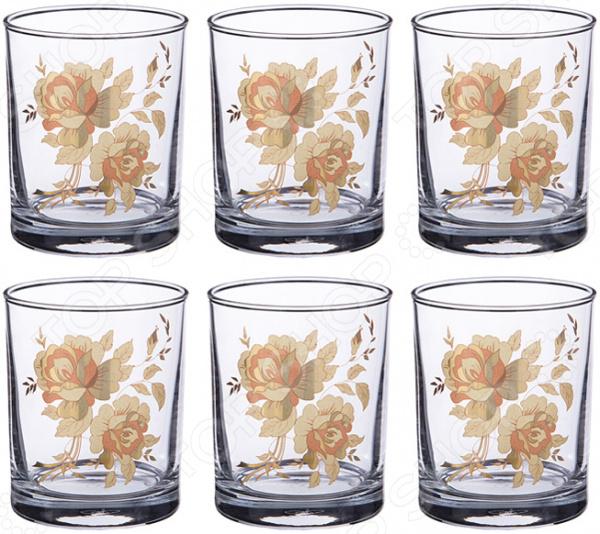 Набор стаканов «Золотая роза» 484-505 фантазер josephine набор плетение из фольги серебрянная роза