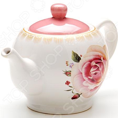 Чайник заварочный Loraine «Нежность» LR-25652 чайник заварочный loraine lr 23768 0 7л белый с рисунком ромашки