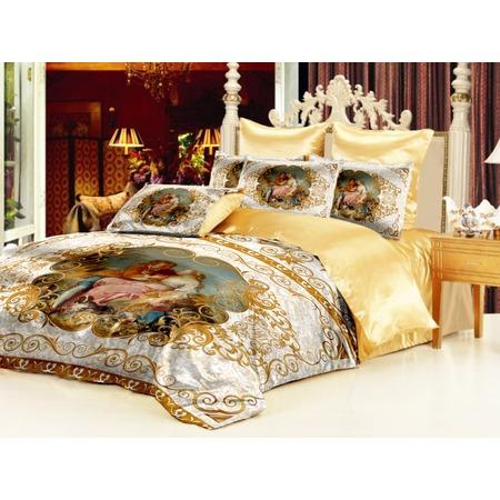 Купить Комплект постельного белья «Аморе». Евро. Цвет: белый