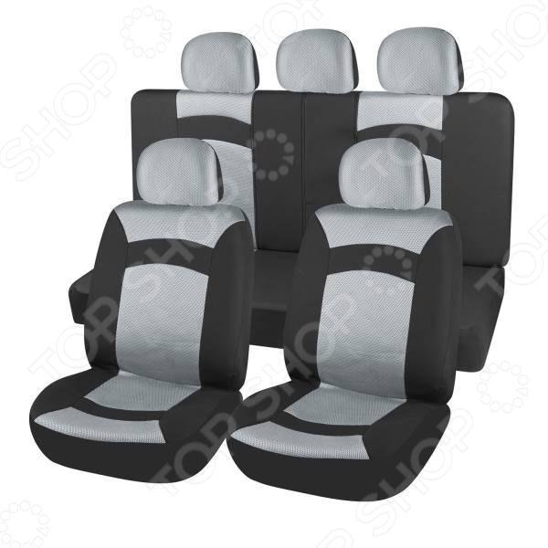 Набор чехлов для сидений SKYWAY Smart Набор чехлов для сидений SKYWAY S01301118 /Серый/Черный