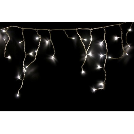 Купить Гирлянда светодиодная Neon-Night прозрачная «Айсикл бахрома». Размер: 1,8х0,5 м