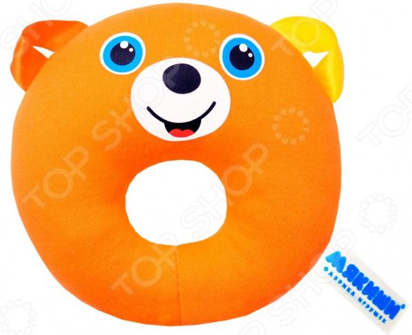 Игрушка-погремушка Мякиши «Медвежонок-колечко»