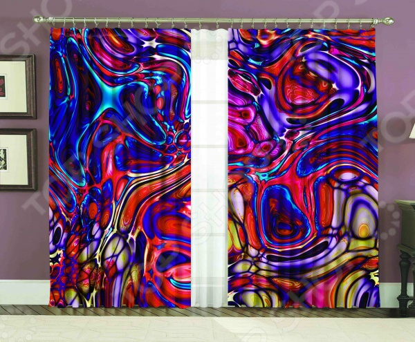 Комплект фотоштор МарТекс «Лиловое стекло»