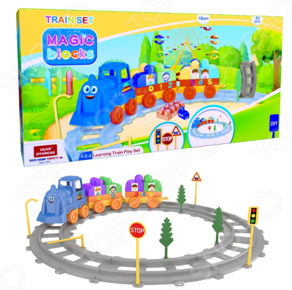 Конструктор игровой Ucar Oyuncak Magic Blocks Train Set