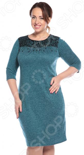 Платье LORICCI «Секрет красоты». Цвет: бирюзовый снуды loricci снуд