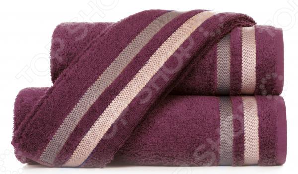 Полотенце махровое Aquarelle «Исландия». Цвет: темно-бордовый полотенце махр aquarelle исландия 40х70см ваниль
