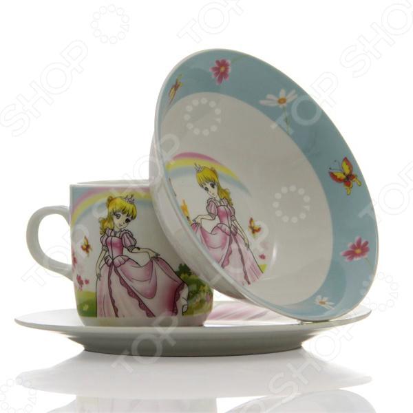 Набор посуды для детей Loraine 23392 «Принцесса»