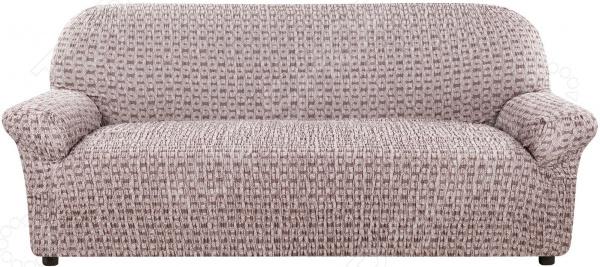 натяжной чехол на угловой диван с выступом слева еврочехол сиена сатурно Натяжной чехол на четырехместный диван Еврочехол «Сиена Сатурно»