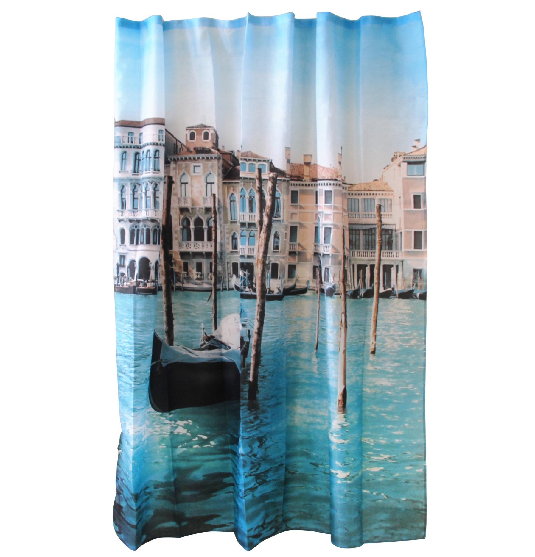 Штора для ванной Рыжий кот «Венеция»