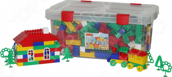 Конструктор игровой POLESIE «Строитель» в контейнере Конструктор игровой POLESIE «Строитель» /530