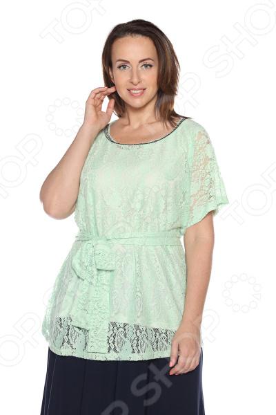 Блуза Гранд Гром «Сладкое счастье». Цвет: светло-зеленый