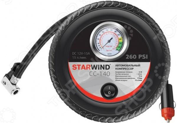 Компрессор автомобильный StarWind CC-140 компрессор для шин cc 2015